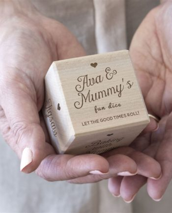 Personalised Mum's Wooden Dice