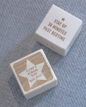 Personalised Reward Wooden Dice
