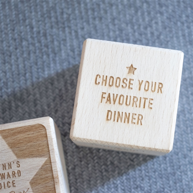 Personalised Wooden Reward Dice