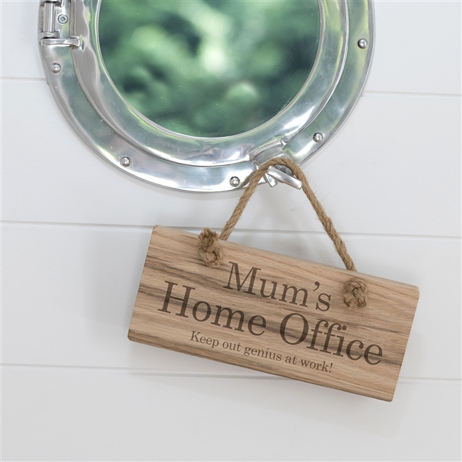Personalised 'Home Working' Wooden Sign