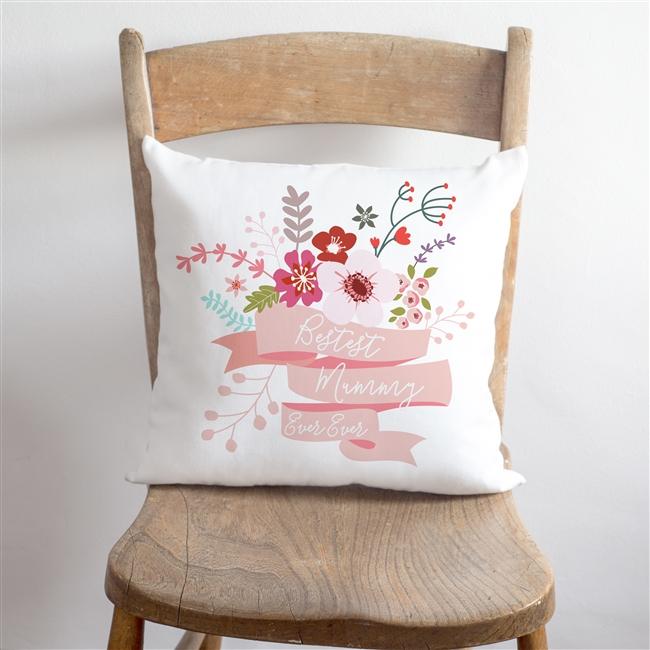 Bestest 'Mummy' Floral Cushion