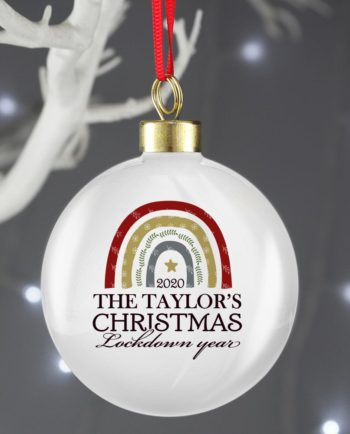 Personalised Christmas Lockdown 2020 Bauble