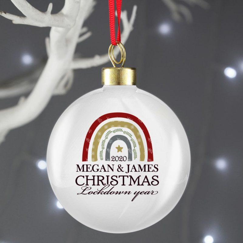 Personalised Christmas Lockdown 2020 Bauble