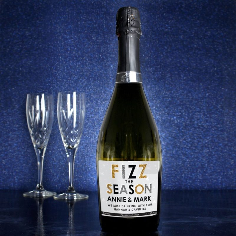 Personalised 'Fizz The Season' Bottle of Prosecco