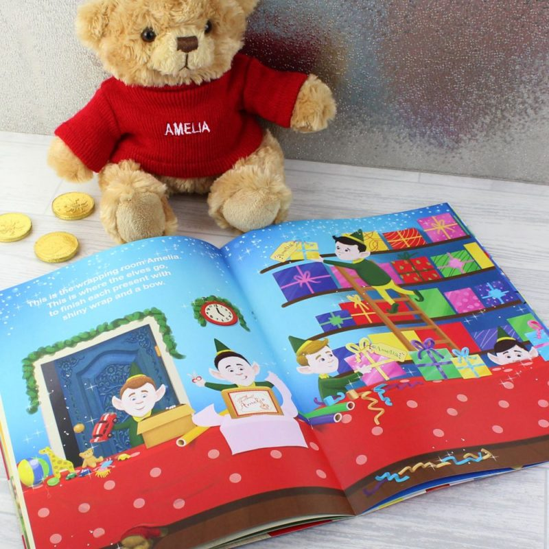 Magical Christmas Adventure Personalised Story Book & Teddy Bear