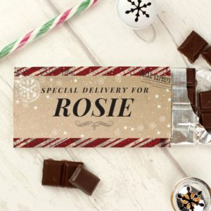 Personalised 'Christmas Special Delivery' Milk Chocolate Bar