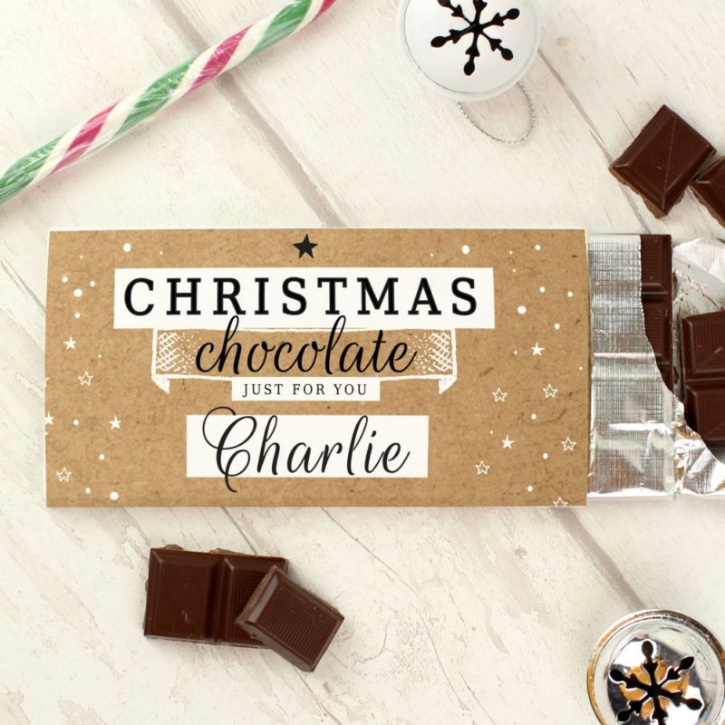 Personalised 'Just For You' Christmas Milk Chocolate Bar