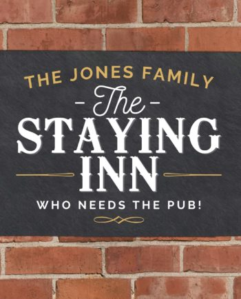 Personalised The Staying Inn Metal Wall Sign