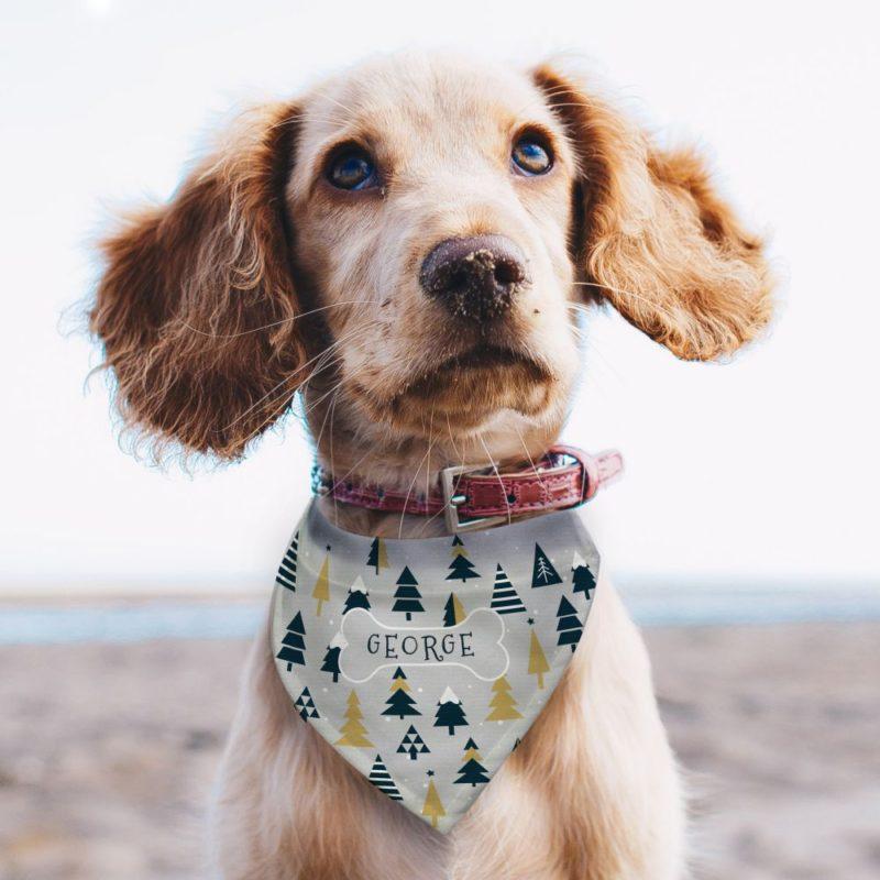 Personalised 'Christmas Tree' Dog Bandana