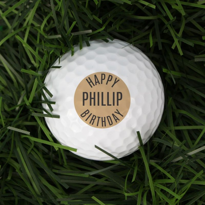 Personalised 'Happy Birthday' Golf Ball