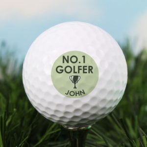 Personalised 'No.1 Golfer' Golf Ball