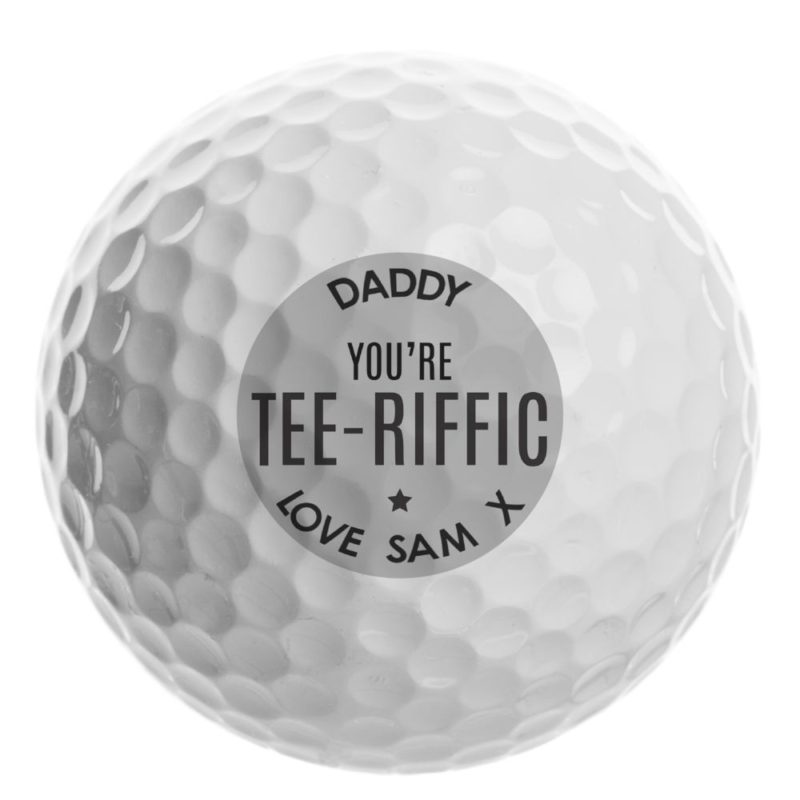 Personalised 'Tee-riffic' Golf Ball