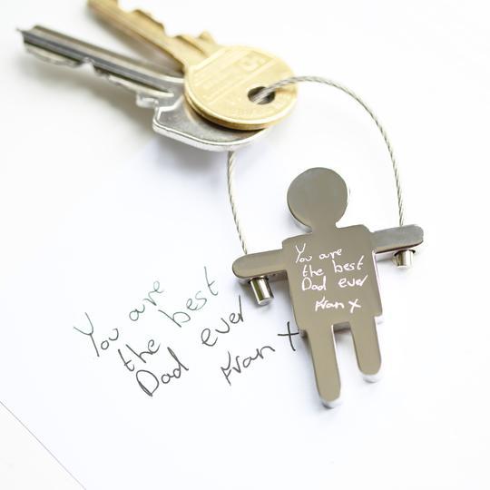 Personalised Own Handwriting Skipping Sam Keyring