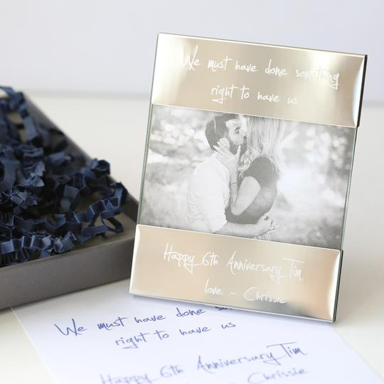 Personalised Own Handwriting Engraved Photo Frame