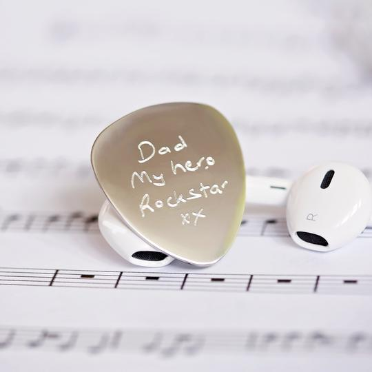 Personalised Own Handwriting Engraved Guitar Pick