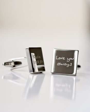 Personalised Own Handwriting Engraved Cufflinks