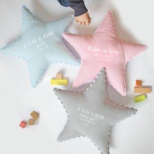 Personalised Newborn Star Cushion