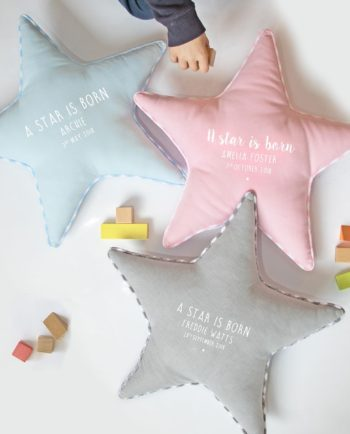 Personalised Newborn Star Cushion