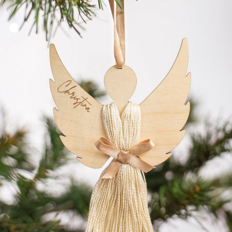 Personalised Hanging Angel Decoration