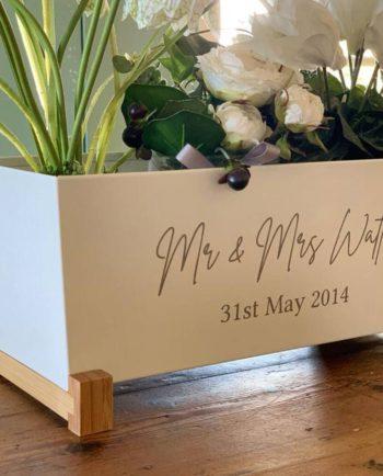 Personalised Wedding Anniversary Planter