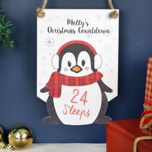 Personalised Penguin Christmas Countdown