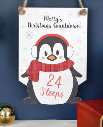 Personalised Penguin Christmas Countdown