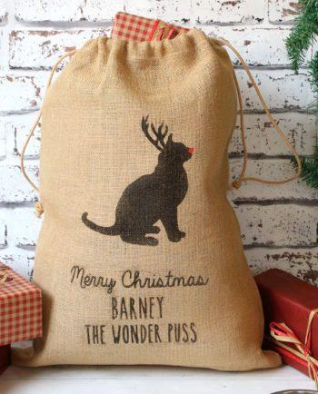Personalised Christmas Cat Sack