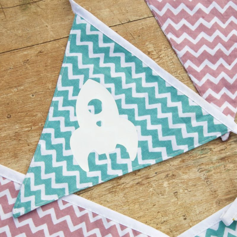 Personalised Fabric Chevron Letter Bunting