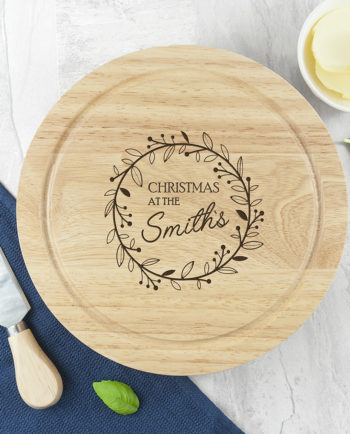 Classic Family Christmas Cheese Board Set