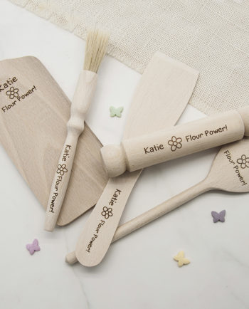 Personalised Flour Power Kids Baking Set