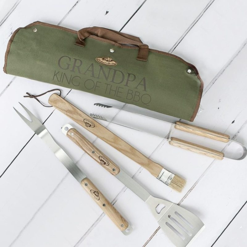 Personalised Stainless Steel BBQ Tool Set