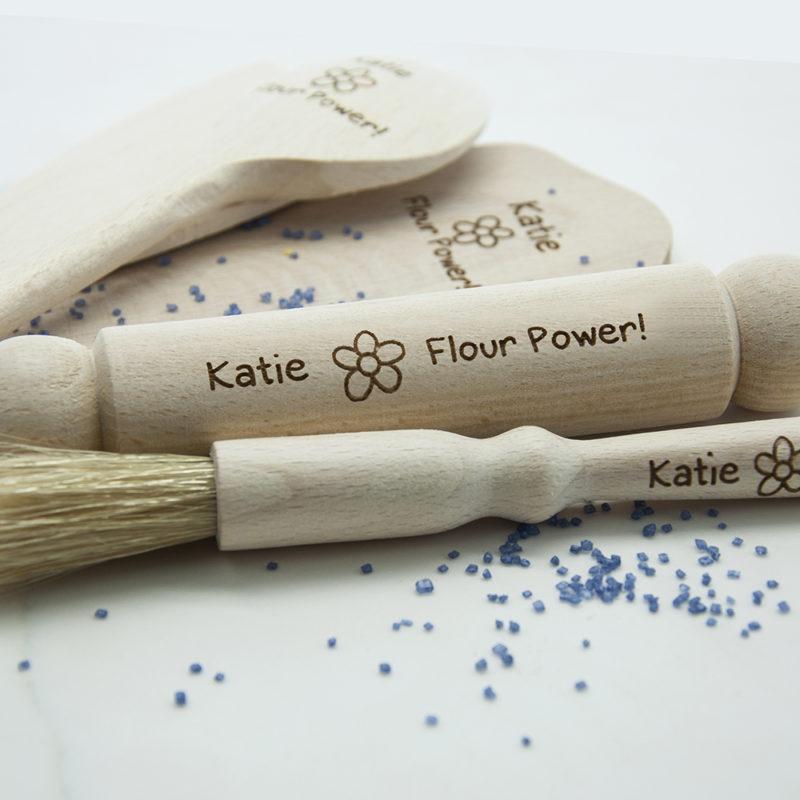 Personalised 'Flour Power' Kids Baking Set
