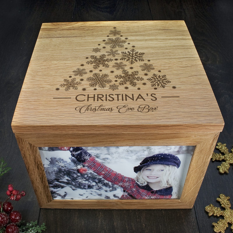 Personalised 'Christmas Tree' Memory Box