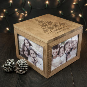 Personalised Christmas Memory Box Tree Design