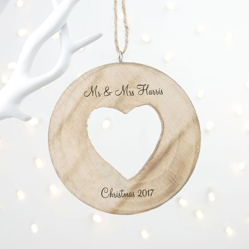 Personalised 'Sparkle Heart' Christmas Decoration