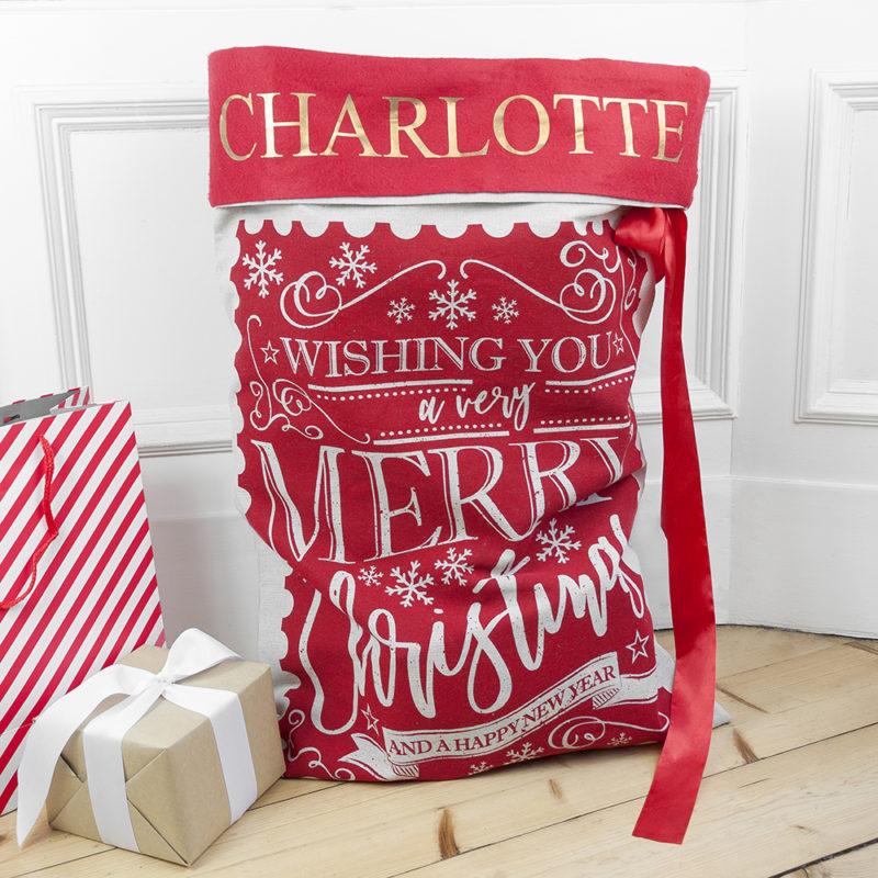 Personalised Traditional Santa Sack