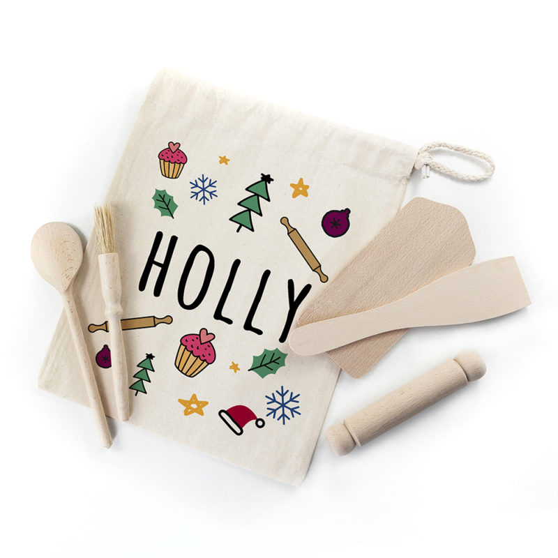 Personalised Kids Festive Baking Set