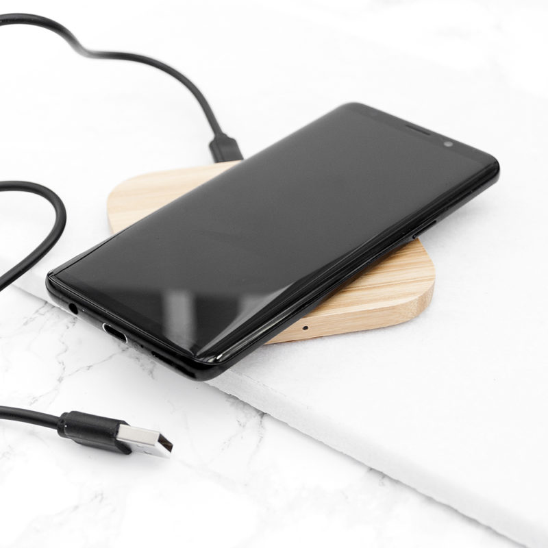 Personalised 'In Charge' Bamboo Wireless Charger