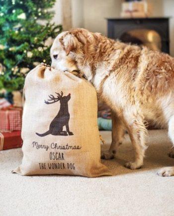 Personalised Christmas Dog Sack