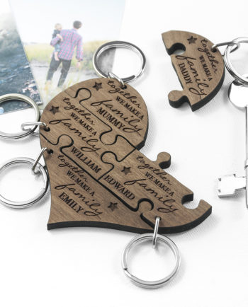 Personalised Family Together Keyring