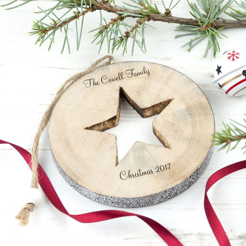 Personalised 'Sparkle Star' Christmas Decoration