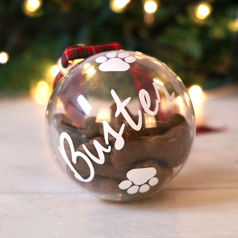Personalised Fillable Pet Treat Bauble