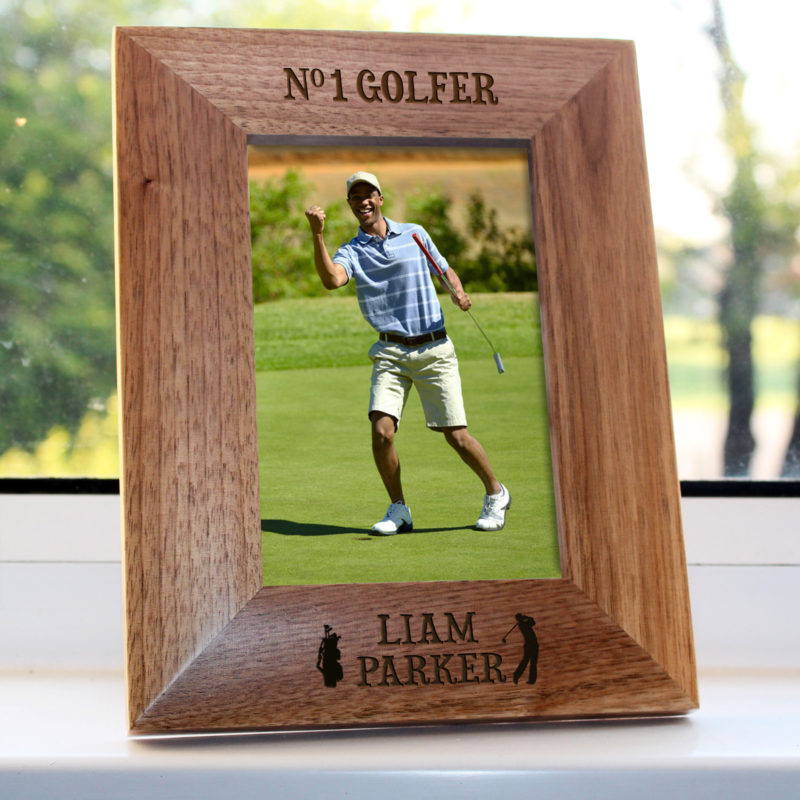 Personalised Top Golfer Wooden Photo Frame