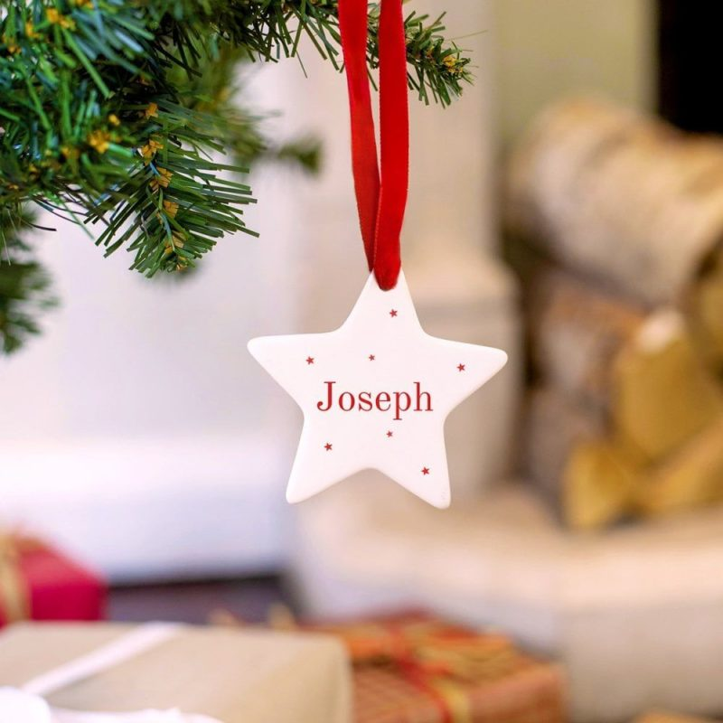 Personalised Christmas Letter And Star Decoration From Santa
