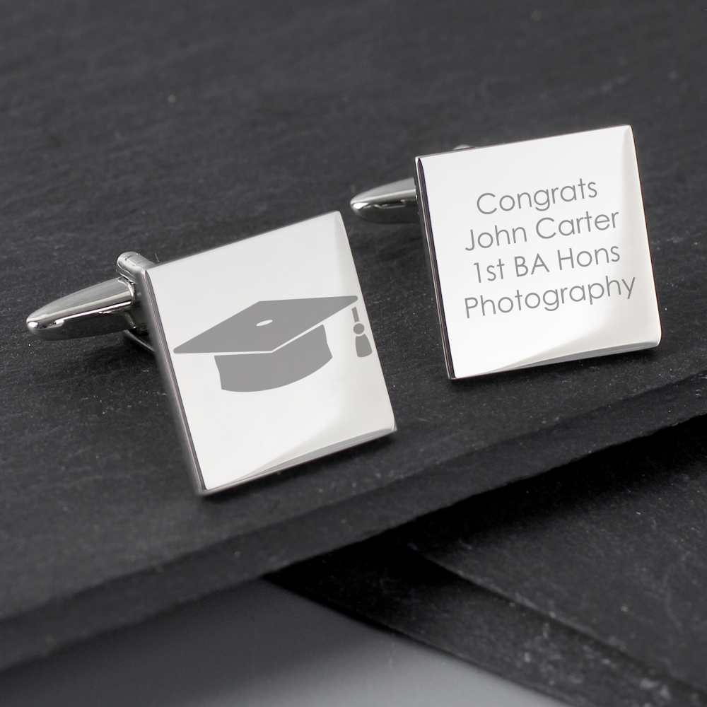 graduation cuff links with engraving