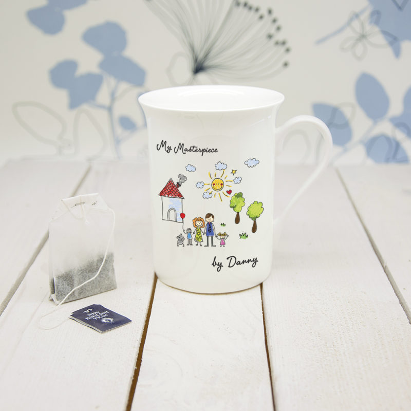 Personalised 'My Mini Artwork Masterpiece' Bone China Mug