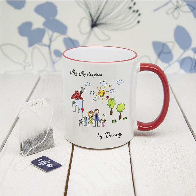 Personalised 'My Mini Artwork Masterpiece' Coloured Mug