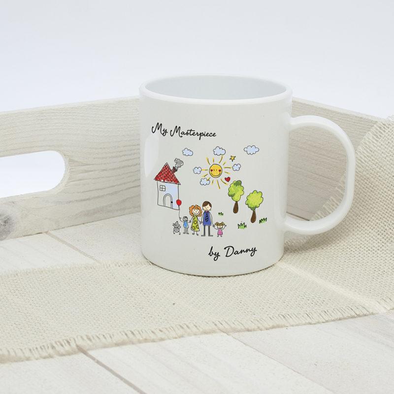 Personalised 'My Mini Artwork Masterpiece' Child's Unbreakable Mug