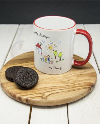 My Mini Masterpiece Personalised Artwork Coloured Mug