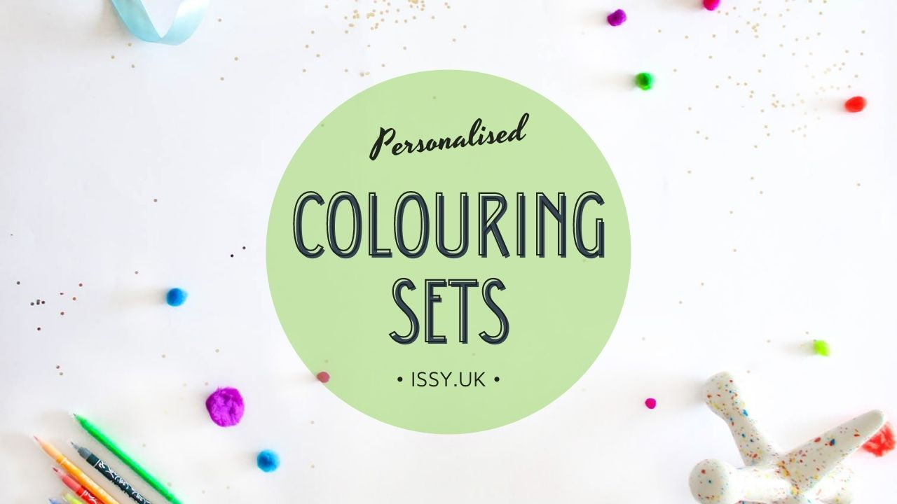 personalised colouring set